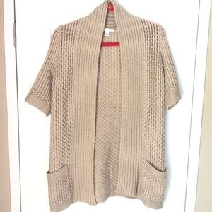 Banana Republic short sleeve cardigan sweater